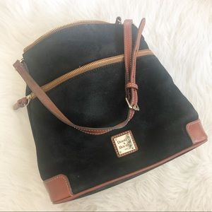 Dooney & Burke vintage suede and leather bag